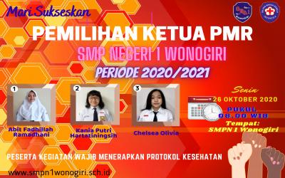PEMILIHAN KETUA PMR RAJAMADYASA  SMP NEGERI 1 WONOGIRI  PERIODE 2020/2021